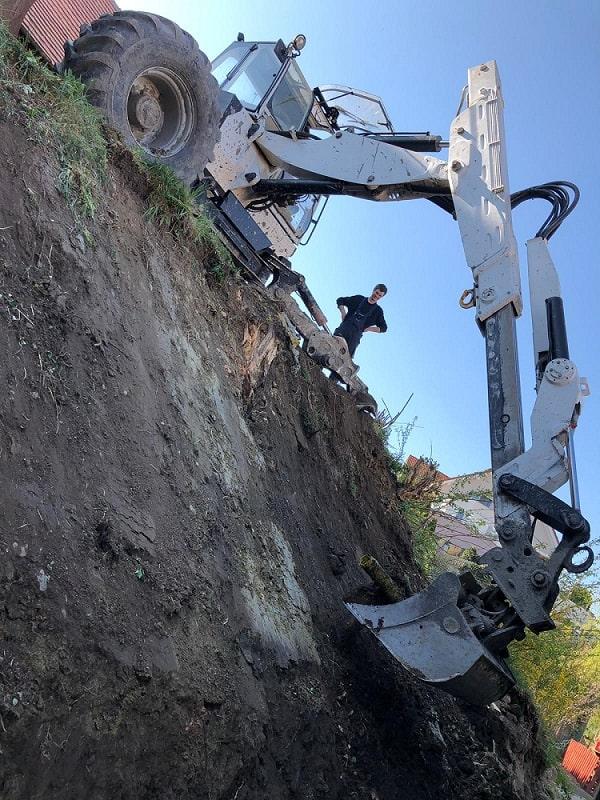 Schreitbagger Steilhang
